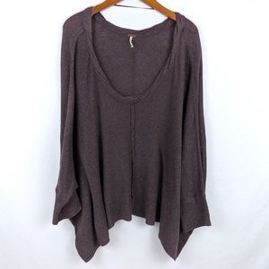 Free People Batwing Blouse Tunic Top Size M
